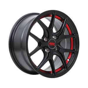 HSR Torey 1135 Ring 15x7 H4x100 ET42 Semi Matte Black Red Line1