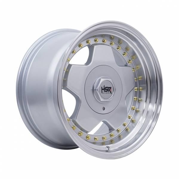 HSR Aachen Ring 16x8-9 H8x100-114,3 ET30-25 Silver Machine Face Lips Gold Rivets1