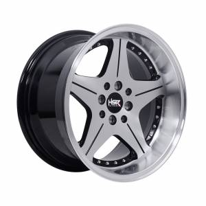 HSR Anambas Ring 16x7,5-8,75 H8x100-114,3 ET35-18 Black Machine Face Machine Lips Chrome Rivets1