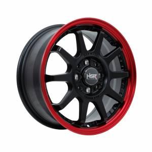 HSR Gymkana BOROKO01 Ring 15x6,5 H8x100-114,3 ET42 Semi Matte Black Red Lips1