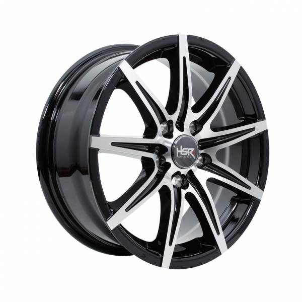 HSR Kccx JD76 Ring 16x6,5 H5x114,3 ET42 Black Machine Face1
