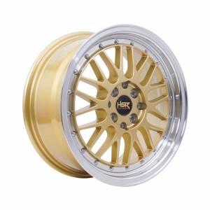 HSR Lemans Ring 16x7 H8x100-114,3 ET38 Gold Machine Lips1