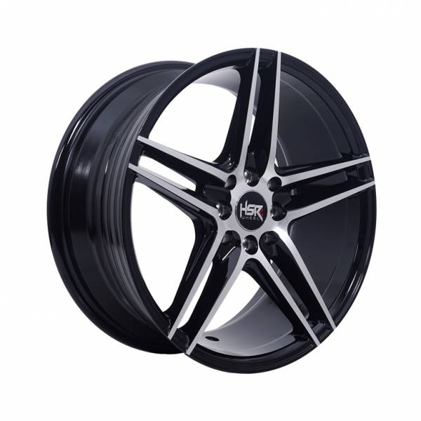 HSR Ne5 H580 Ring 17x7,5 H8x100-114,3 ET40 Black Machine Face1