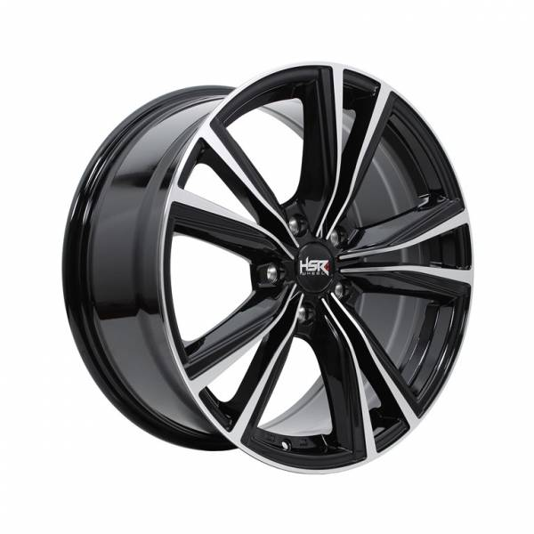 HSR Stone JD5267 Ring 18x8 H5x114,3 ET45 Black Machine Face1