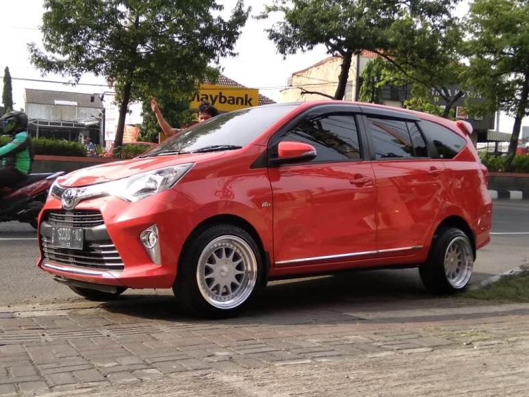 Toyota Calya Modifikasi Pakai Velg Ikimasu Hsr Ring 16